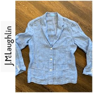 I. McLaughlin linen blazer or jacket  thin & comfy